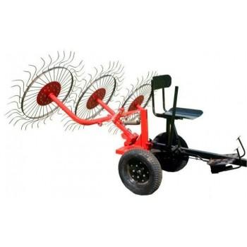 Ворошилка колесно-пальцевая ВМ-3 для мотоблока