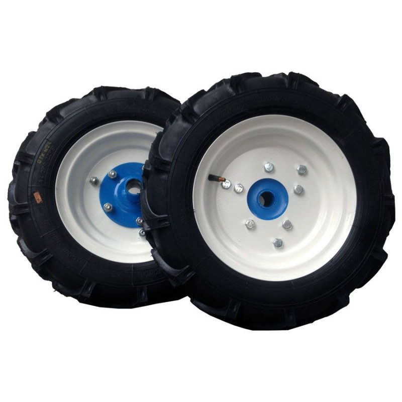 Комплект резиновых колес 4.5×10 в сборе