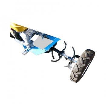 Комплект для перемещения мотоблоков Нева на колесах с фрезами