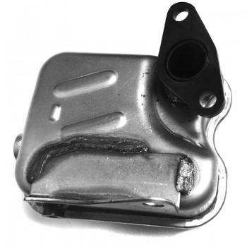 Глушитель в сборе с дефлектором двигателя Subaru EX17