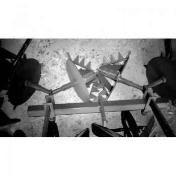 Полольник-рыхлитель Ёж (без сцепки) двухрядный для мотоблоков Целина, Нева, Каскад