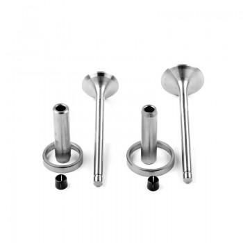 Клапаны (впуск, выпуск к-т + направляющие + седла) KM130/138 (Xingtai 24B, Shifeng 244,Taishan 24)