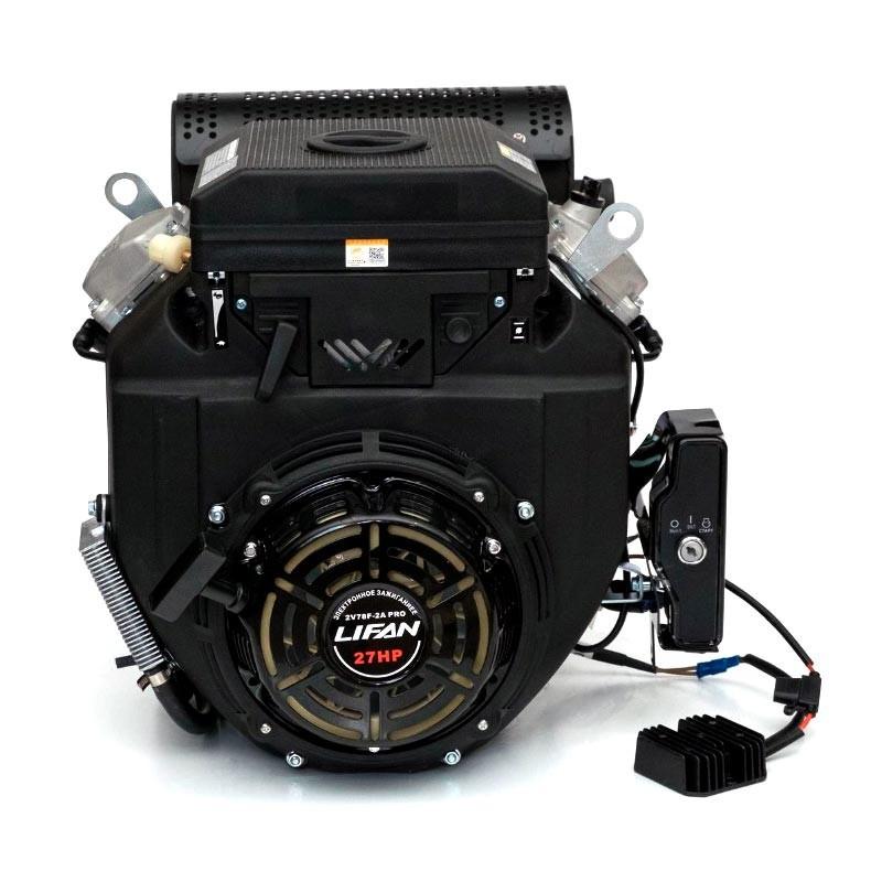 Двигатель Lifan LF2V78F-2A PRO (вал Ø25 мм, катушка 3 А)